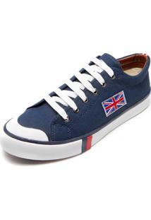 Sapatênis England Leeds Bandeira Azul-Marinho