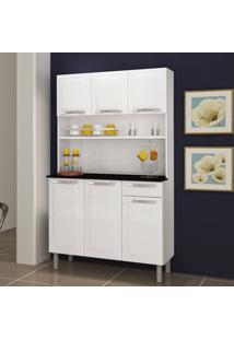 Cozinha De Aço Compacta Rose 6 Portas Branco - Itatiaia