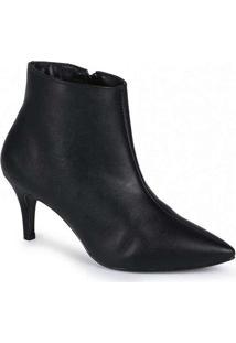 Ankle Boots Feminina Lara Bico Fino Preto