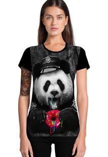 Camiseta Stompy Urso Panda Preto
