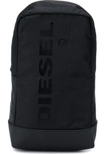 Diesel Mochila Com Estampa De Logo - Preto