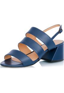 Sandália Luiza Barcelos Salto Médio Azul