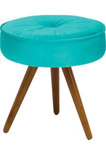Puff Decorativo Julia Redondo Suede Azul Tiffany - D'Rossi