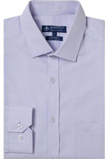 Camisa Dudalina Manga Longa Fio Tinto Maquinetada Masculina (Roxo Claro, 47)