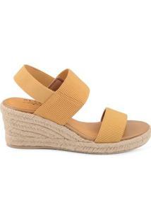 Anabela Tiras Canelada Royal Comfort Amarelo Amarelo/36