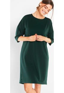 Vestido Amplo Reto Verde