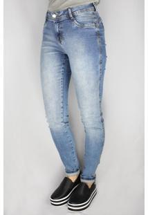 Calça Jeans Feminina Pitt Skinny Azul - 46