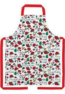 Avental Frida® - Branco & Vermelho - 80X70Cmurban