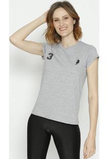 """Camiseta """" Polo 3""""- Cinza & Preta- Club Polo Collectclub Polo Collection"""
