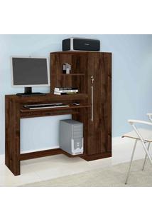 Escrivaninha Mesa Para Computador Aroeira Candian Cacau - Jcm Movelaria