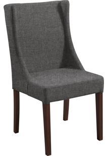 Cadeira Antonia B. Mad Tabaço T1071 Linho Cinza