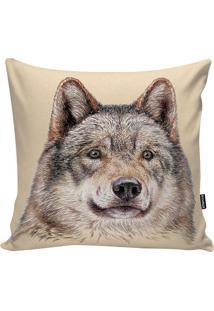 Capa De Almofada Canadian Wolf- Bege Escuro & Cinza-Stm Home