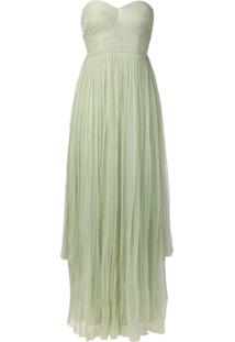 Maria Lucia Hohan Vestido De Tule Com Bustier - Green