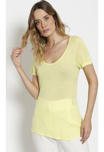 Camiseta Lisa Com Transparência - Verde Claro Neoncanal