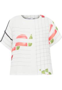 Camiseta Feminina Tee Mullet Linho - Off White
