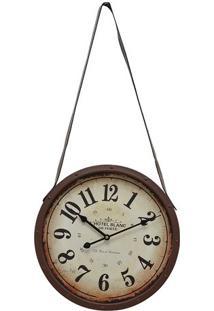 Relógio De Parede- Marrom & Bege- Ø40X6Cm- Mabrumabruk