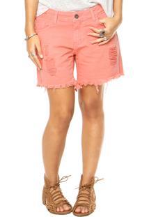 Bermuda Jeans Canal Color Laranja