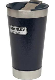 Copo Térmico De Cerveja Stanley 473 Ml Com Tampa E Abridor Garrafas Azul