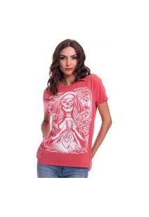Camiseta Jazz Brasil Skull Heart Vermelha