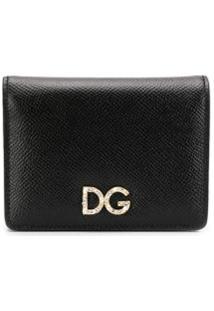 Dolce & Gabbana Carteira Com Aplicação De Logo - Preto