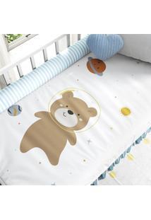 Edredom Berço Amiguinhos Urso Astronauta Grão De Gente Marrom