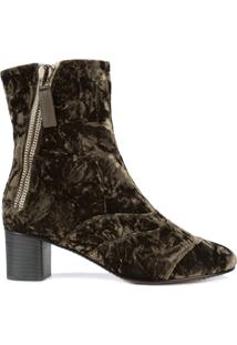 Chloé Ankle Boot 'Lexie' De Veludo - Brown