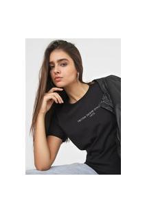 Camiseta Triton Curta Lettering Preta