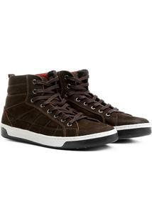 Sapatênis Couro Shoestock Cano Alto Masculino - Masculino