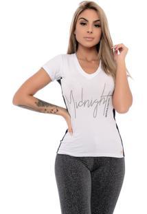 Camiseta Nathalia Freitas Lais Midnight Branco