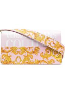 Versace Jeans Couture Bolsa Tiracolo Com Estampa De Logo - Rosa