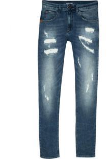 Calça John John Super Skinny Loanda Jeans Azul Masculina (Jeans Medio, 46)