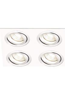 Spot Embutir De Alumínio Ecco 2,5Cmx15Cmx15Cm Bella Iluminação - Caixa Com 3 Unidade - Branco