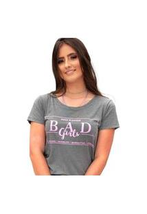 Camiseta Bad Girls Miss Glamour Store Cinza