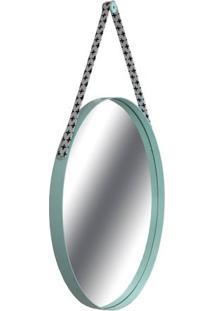 Espelho Budis Moldura Cor Menta Com Alca Estampa Mais 75 Cm (Larg) - 43555 - Sun House