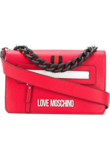 Love Moschino Bolsa Tiracolo Com Corrente - Vermelho
