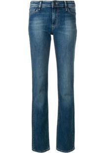 27a8a5e03 R$ 1408,00. Farfetch Calça Giorgio Armani Emporio Armani Swear Lee Feminina  Azul U2 Elastano Jeans Cotton - Straight-Leg