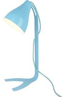 Abajur Moderno Premier Iluminação Lindt, Metal Na Cor Azul - Kanui