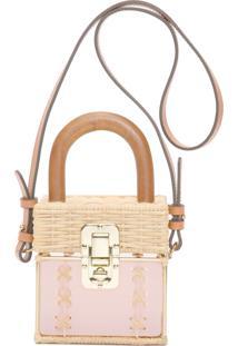 Bolsa Feminina Cacau Bag Gold - Rosa