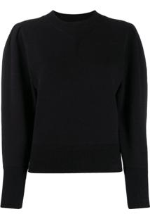 Isabel Marant Étoile Puff Sleeve Knitted Top - Preto