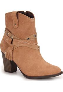 Ankle Boots Feminina Ramarim - Bege