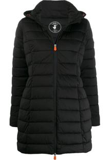 Save The Duck Padded Hooded Coat - Preto