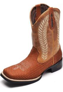 Bota Couro Country Top Franca Shoes Masculino - Masculino-Marrom