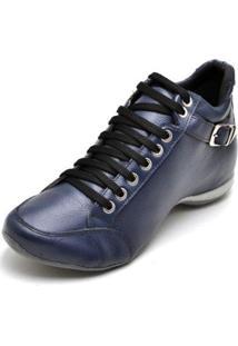 Bota Clube Do Sapato De Franca Top Confort 2 Fivela Feminina - Feminino-Azul
