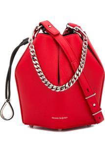 Alexander Mcqueen Small Bucket Bag - Vermelho