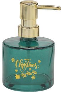 Porta Sabonete ''Merry Christmas''- Verde & Dourado-Mabruk