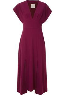 Framed Vestido Midi Lawrence - Vermelho