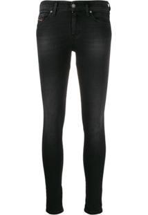 Diesel Calça Jeans Super Skinny Slandy - Preto