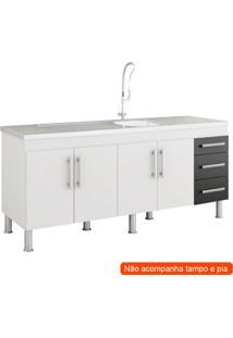 Balcão De Cozinha Flex 4 Pt 3 Gv Branco E Preto