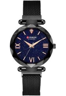 Relógio Curren Analógico C9036L Feminino - Feminino-Preto