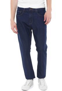 Calça Jeans Calvin Klein Jeans Reta Lisa Azul-Marinho